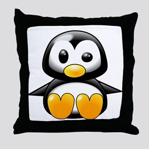 Baby Penguin Throw Pillow