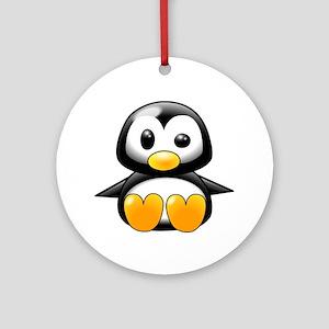 Baby Penguin Ornament (Round)
