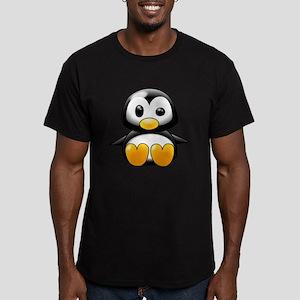 Baby Penguin Men's Fitted T-Shirt (dark)