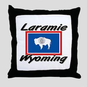 Laramie Wyoming Throw Pillow