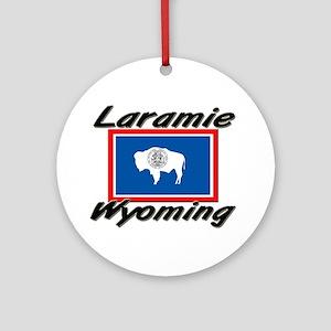 Laramie Wyoming Ornament (Round)