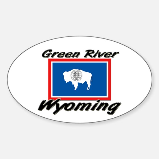 Green River Wyoming Oval Decal