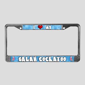 Love Galah Cockatoo License Plate Frame Cartoon