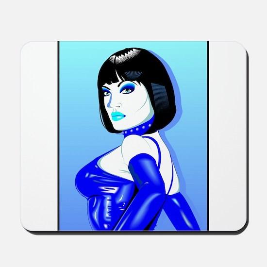 Jean Bardot in Blue Mousepad