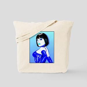 Jean Bardot in Blue Tote Bag