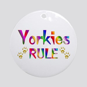 Yorkie Ornament (Round)