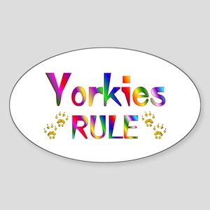 Yorkie Oval Sticker