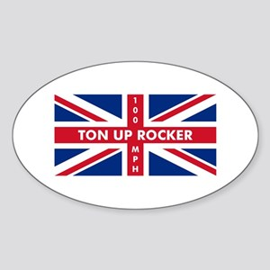 Ton Up Jack Oval Sticker