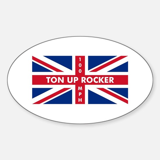 Ton Up Jack Oval Decal