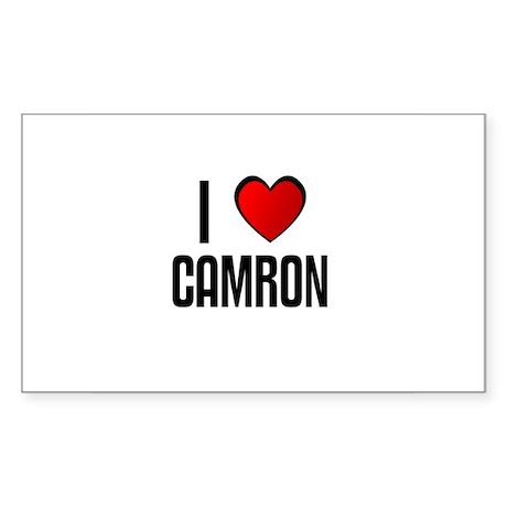 I LOVE CAMRON Rectangle Sticker