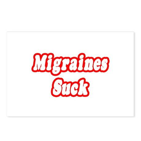 """Migraines Suck"" Postcards (Package of 8)"