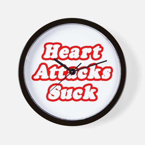 """""""Heart Attacks Suck"""" Wall Clock"""