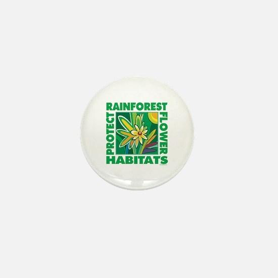 Protect the Rainforest Mini Button
