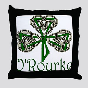 O'Rourke Shamrock Throw Pillow