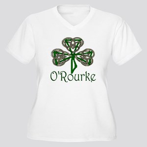 O'Rourke Shamrock Women's Plus Size V-Neck T-Shirt