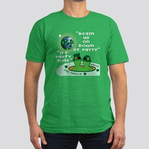 ALIENS ITS PARTY TIME Men's Fitted T-Shirt (d