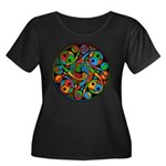 Celtic Stained Glass Spiral Women's Plus Dark Tee