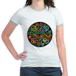Celtic Stained Glass Spiral Jr. Ringer T-Shirt