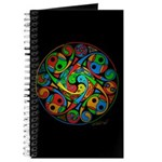 Celtic Stained Glass Spiral Journal