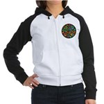 Celtic Stained Glass Spiral Women's Raglan Hoodie