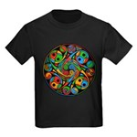 Celtic Stained Glass Spiral Kids Dark T-Shirt