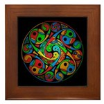 Celtic Stained Glass Spiral Framed Tile