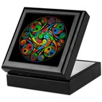 Celtic Stained Glass Spiral Keepsake Box