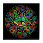 Celtic Stained Glass Spiral Tile Coaster