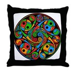 Celtic Stained Glass Spiral Throw Pillow