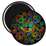 Celtic Stained Glass Spiral Magnet