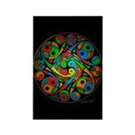 Celtic Stained Glass Spiral Rectangle Magnet