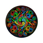 Celtic Stained Glass Spiral 3.5