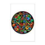 Celtic Stained Glass Spiral Mini Poster Print