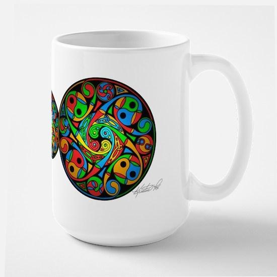 Celtic Stained Glass Spiral Large Mug