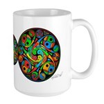 Celtic Stained Glass Spiral Large Mug