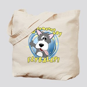 Crazy Flyball Dog Tote Bag