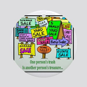 Yard Sales Ornament (Round)