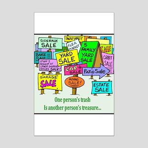 Yard Sales Mini Poster Print