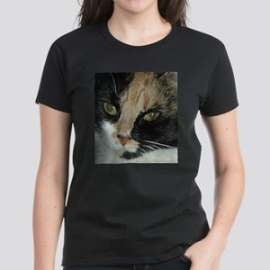 Calico Tiger Girls's Closeups Women's Dark T-Shirt