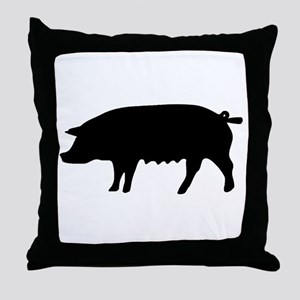 pig fluke Throw Pillow