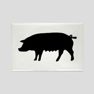 pig fluke Rectangle Magnet