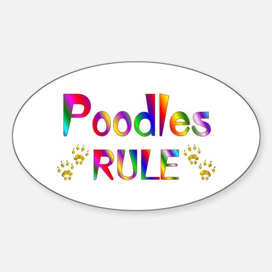 Poodle Oval Bumper Stickers