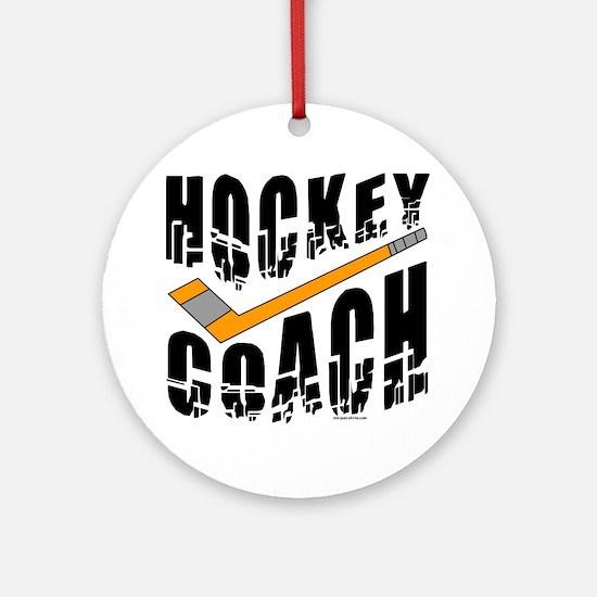 Hockey Coach Ornament (Round)