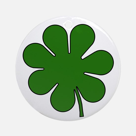 Seven Leaf Clover Ornament (Round)