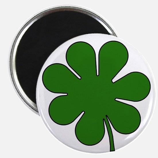 """Seven Leaf Clover 2.25"""" Magnet (10 pack)"""