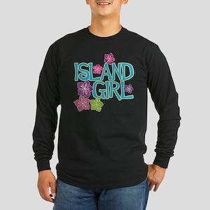 ISLAND GIRL Long Sleeve Dark T-Shirt