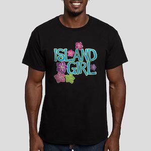 ISLAND GIRL Men's Fitted T-Shirt (dark)