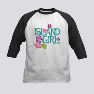 ISLAND GIRL Kids Baseball Jersey