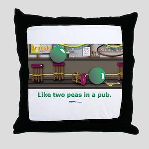 in a pub Throw Pillow