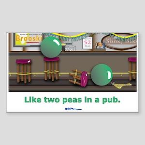in a pub Rectangle Sticker